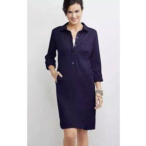 J. Jill | Roll Tab Khaki Shirt Dress